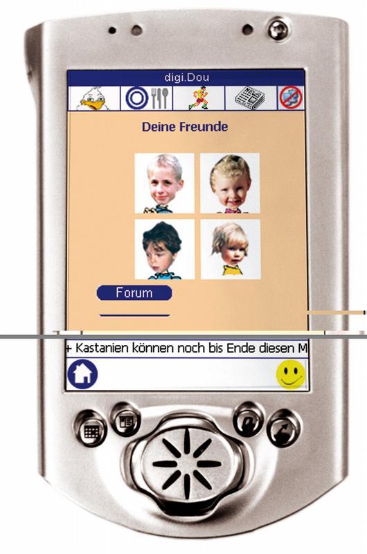 Quelle: © Fraunhofer ISST Über die einfach gestaltete Softwareoberfläche können Kinder mit anderen Patienten kommunizieren - nur eine der Funktionen, die ihre Motivation fördern soll.